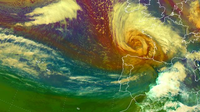 Der Zyklon Klaus im Jahr 2009 war einer der stärksten Stürme in Westeuropa während der letzten Jahrzehnte