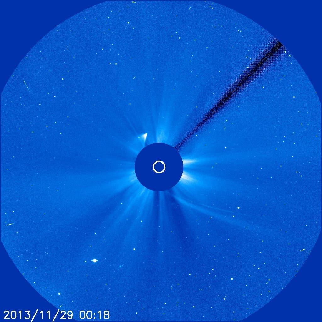 Komet ISON am 29. November 2013 um 01:18 Uhr MEZ