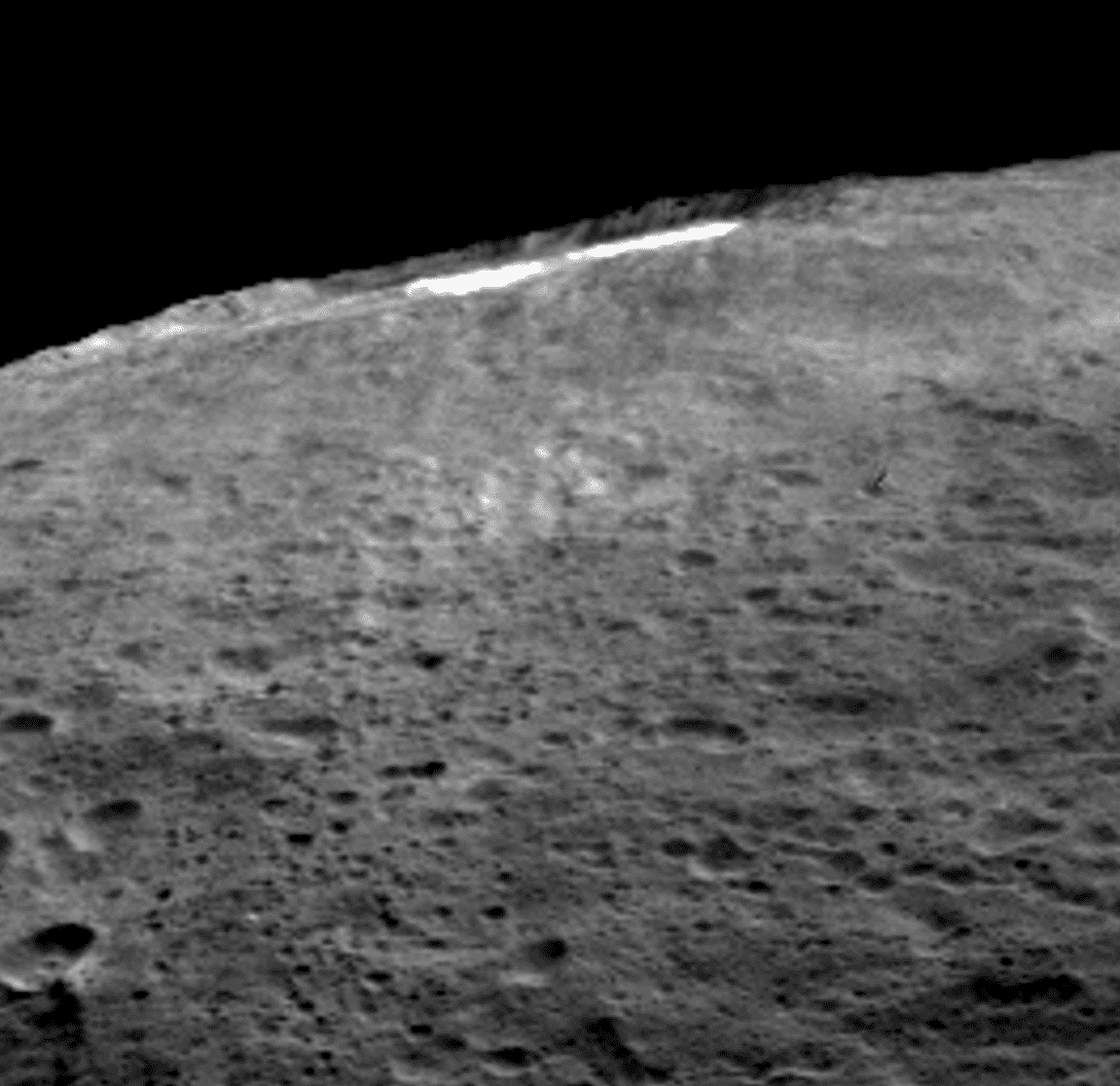 Dunst im Krater Occator