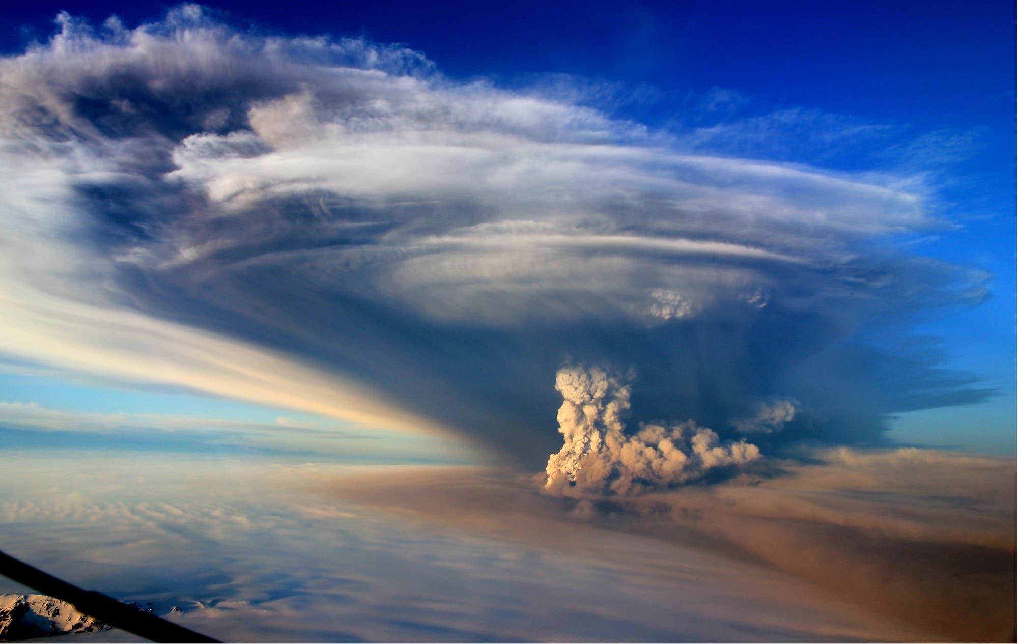 Aschewolken des Grímsvötn auf Island