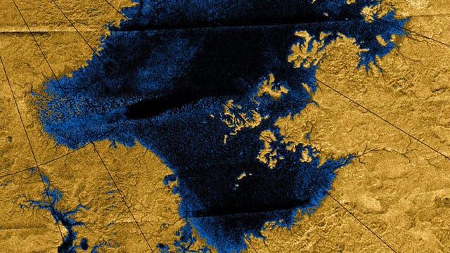 Seen auf dem Saturnmond Titan