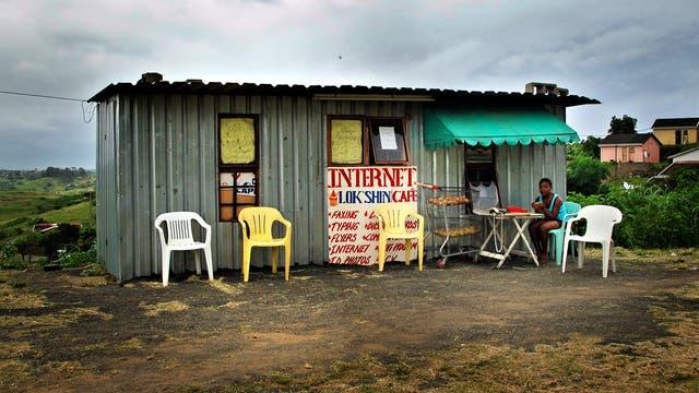 Altes Internetcafé in Südafrika