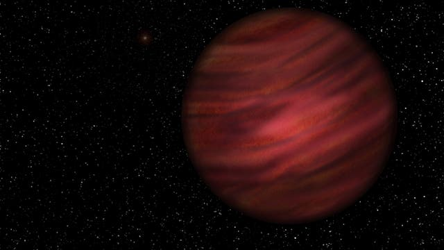 Wie sich der Künstler den Planeten 2MASS J2126 vorstellt