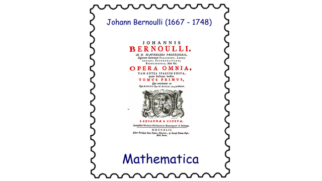 Johann Bernoulli (1667–1748)