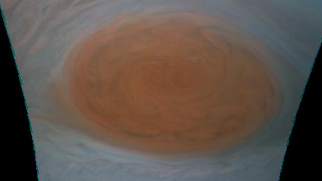 Der Große Rote Fleck am 11. Juli 2017 (Ausschnitt aus Rohbild)