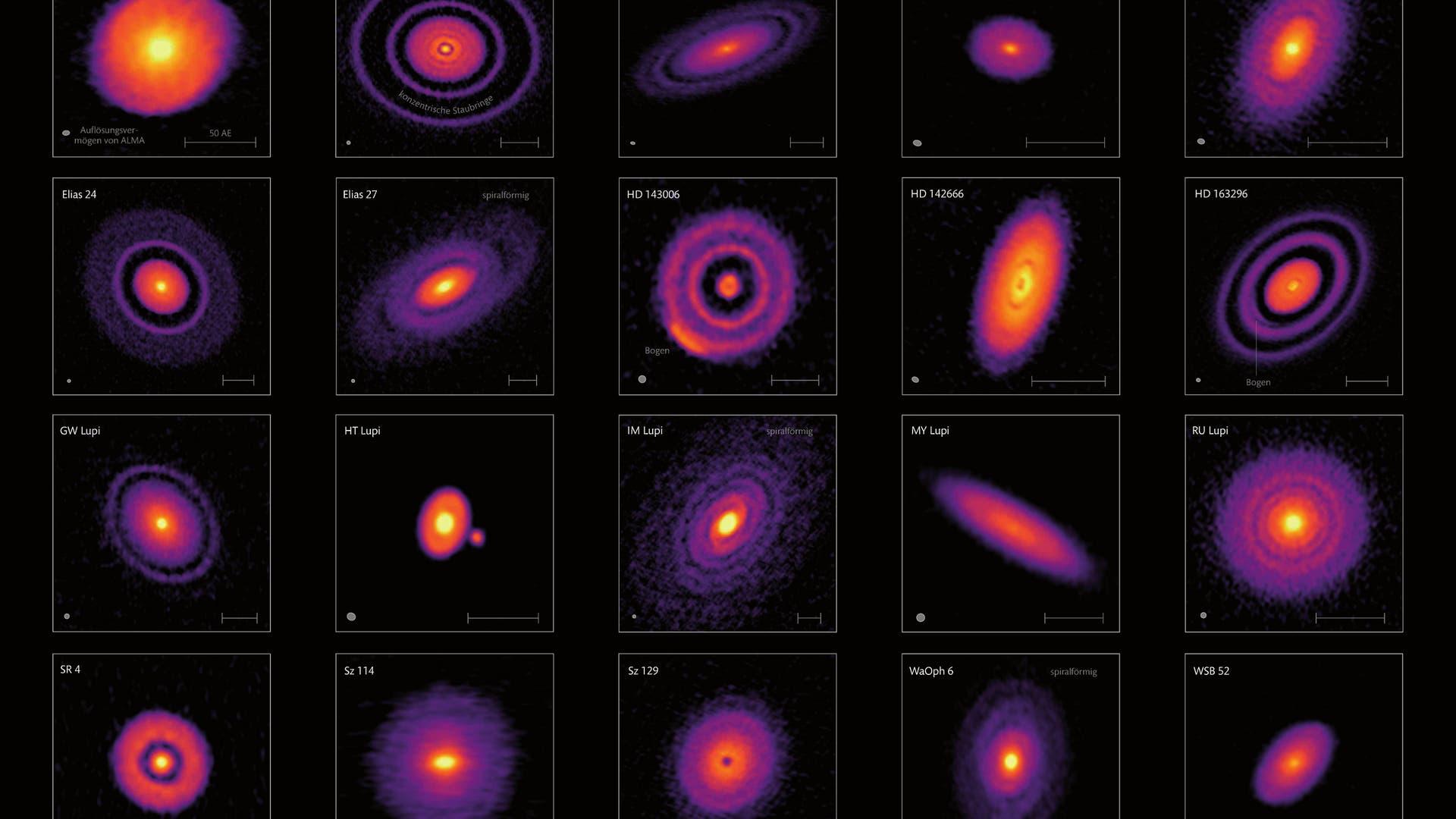 Ein Blick in das Innere von planetaren Geburtsstätten