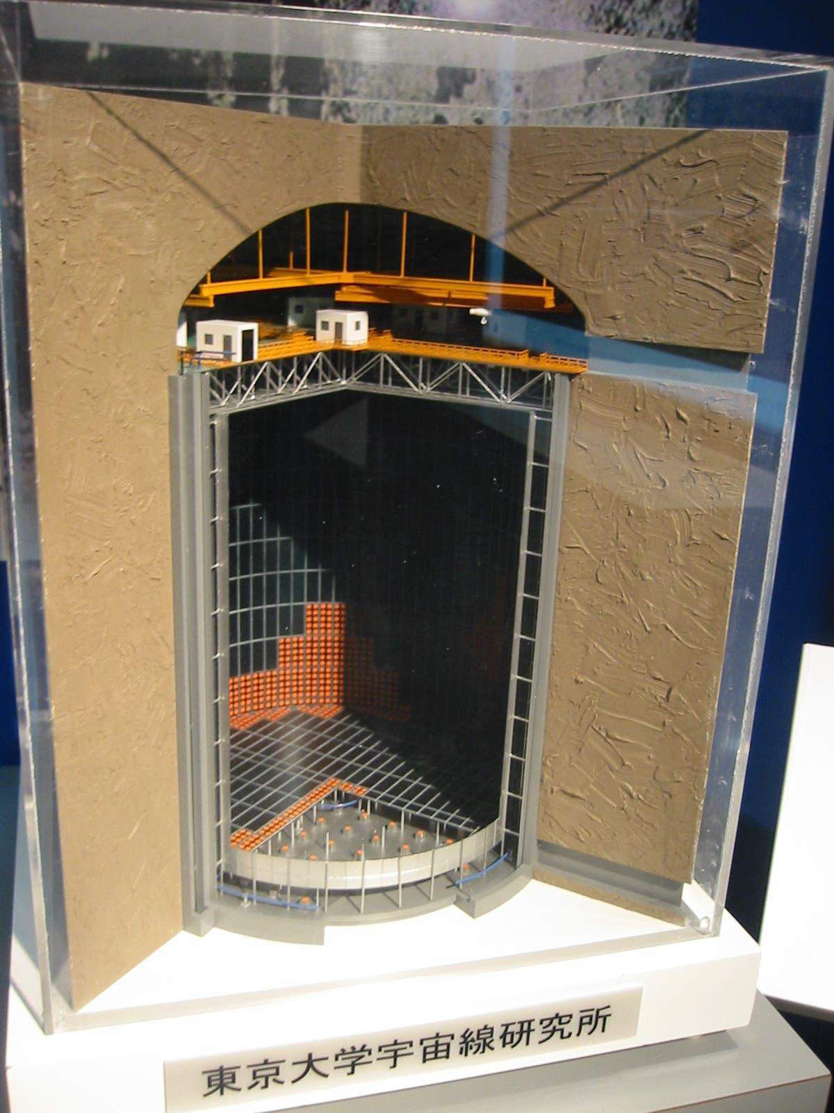 Modell des Kamiokande-Neutrinodetektors