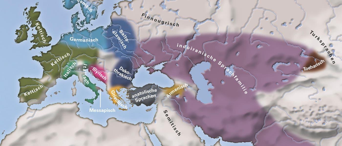 Sprachverteilung im 1. Jahrtausend v. Chr.