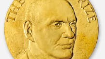 Die Medaille des Kavli-Preises