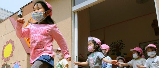 Kinderleben nahe Fukushima