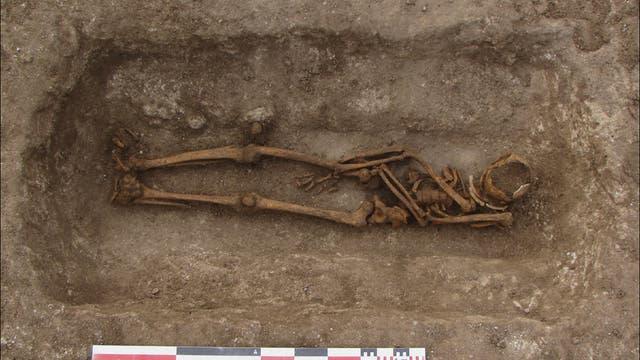Mittelalterliches Skelett