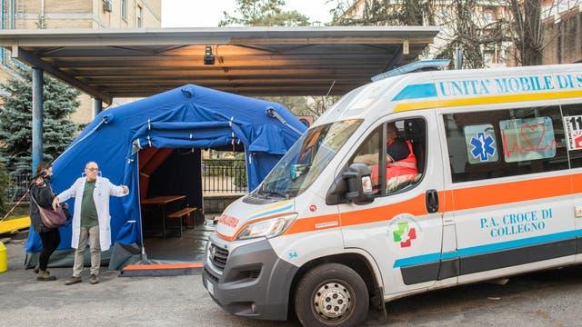 Präventionsmassnahmen gegen die Ausbreitung des Coronavirus in Turin