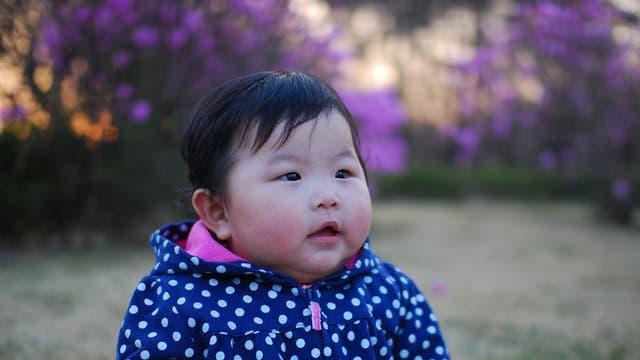 Kleine Asiatin