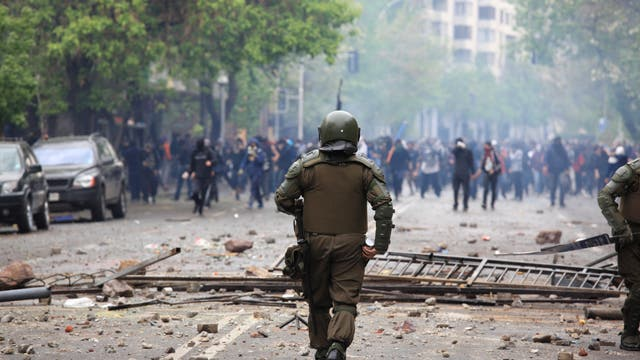 Straßenkrawalle in Chile