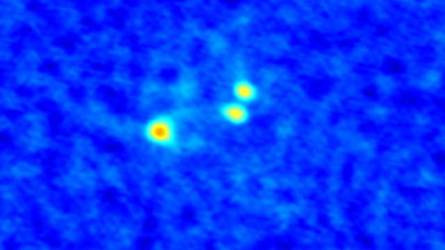Ein Dreifachsternsystem im Werden: L1448 IRS3B im Sternbild Perseus