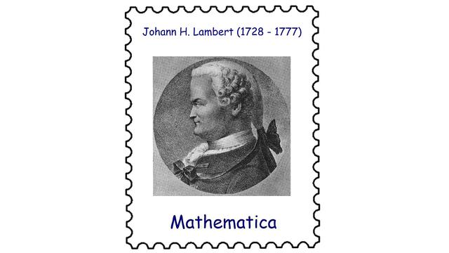 Johann Heinrich Lambert (1728–1777)