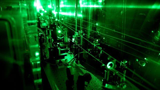 Präzise Lasermessung