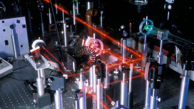 Laserforschung im Labor