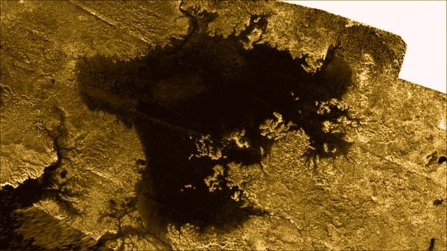 Das Titanmeer Ligeia Mare (Radarbild der Raumsonde Cassini)