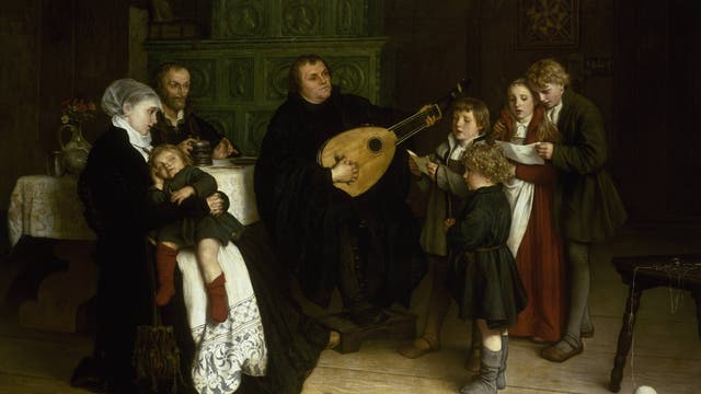 Martin Luther mit Familie