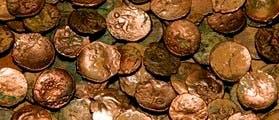 Die 545 Münzen des gallischen Schatzes