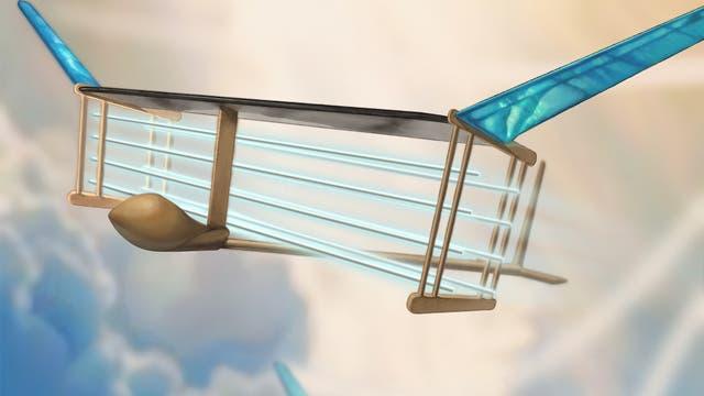 Konzeptstudie des Ionenwindflugzeugs