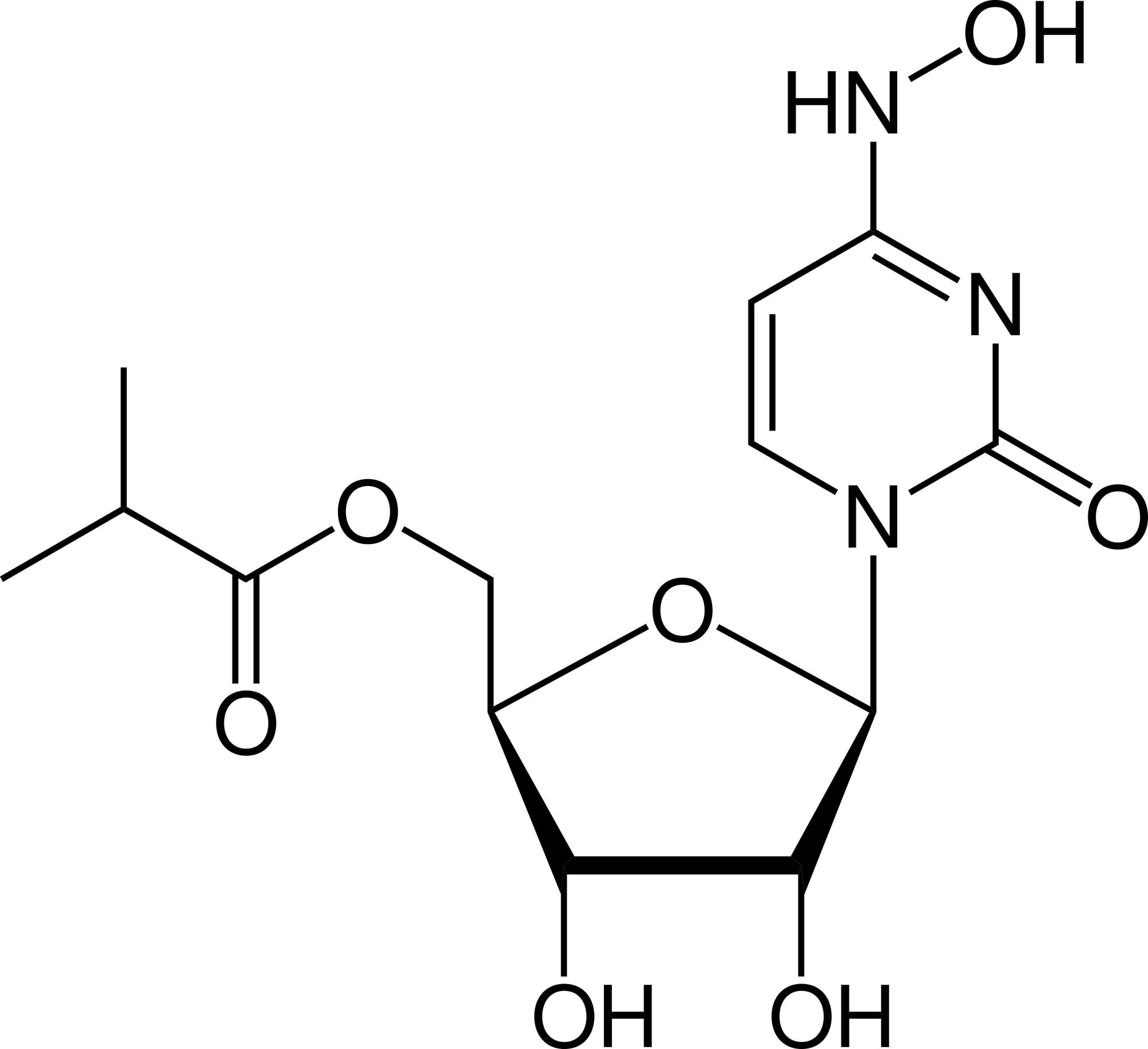 Die Strukturformel von Molnupiravir