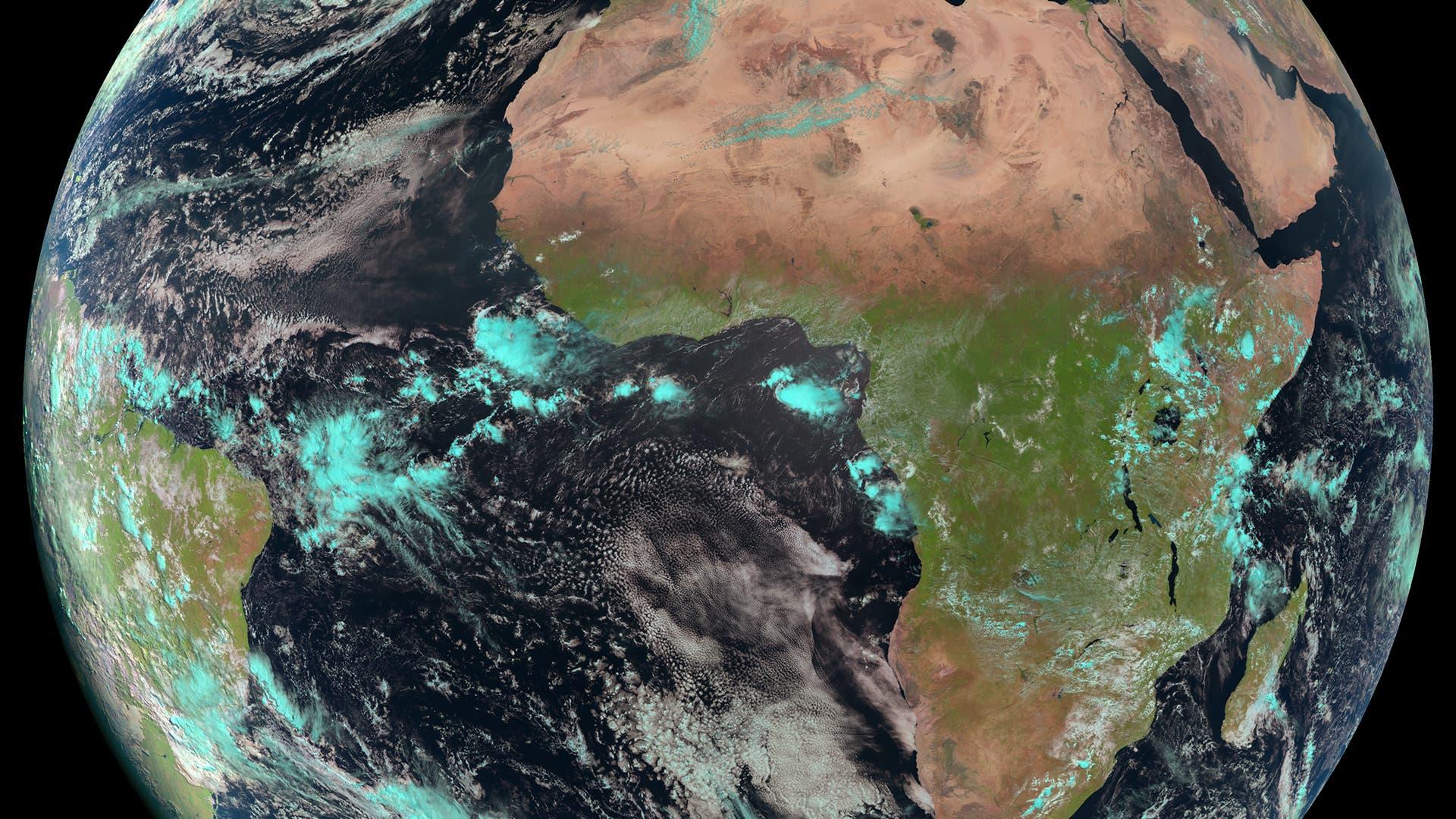 Die Erde am 22. April 2012, aufgenommen von Meteosat-10