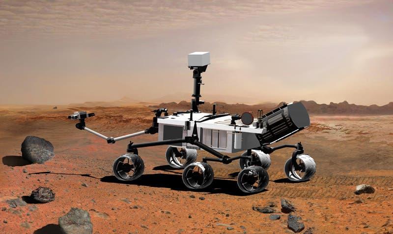 """Das """"Mars Science Laboratory"""" unterwegs auf dem Roten Planeten"""
