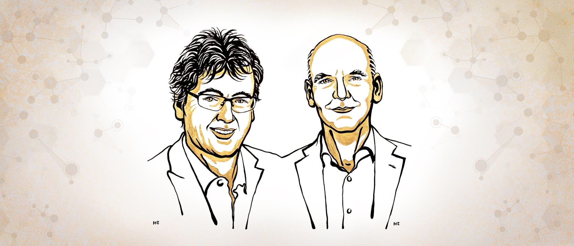 David W.C. MacMillan (links) und Benjamin List sind die Nobelpreisträger für Chemie 2021.