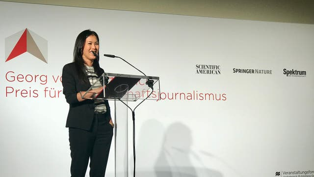 Mai Thi Nguyen-Kim bei der Preisverleihung