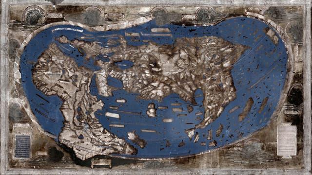 Spektralaufnahme der Martellus-Karte