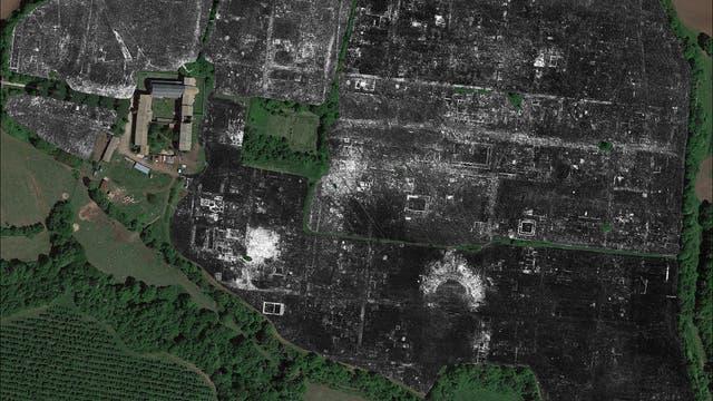 Georadarkarte von Falerii Novi bei Rom