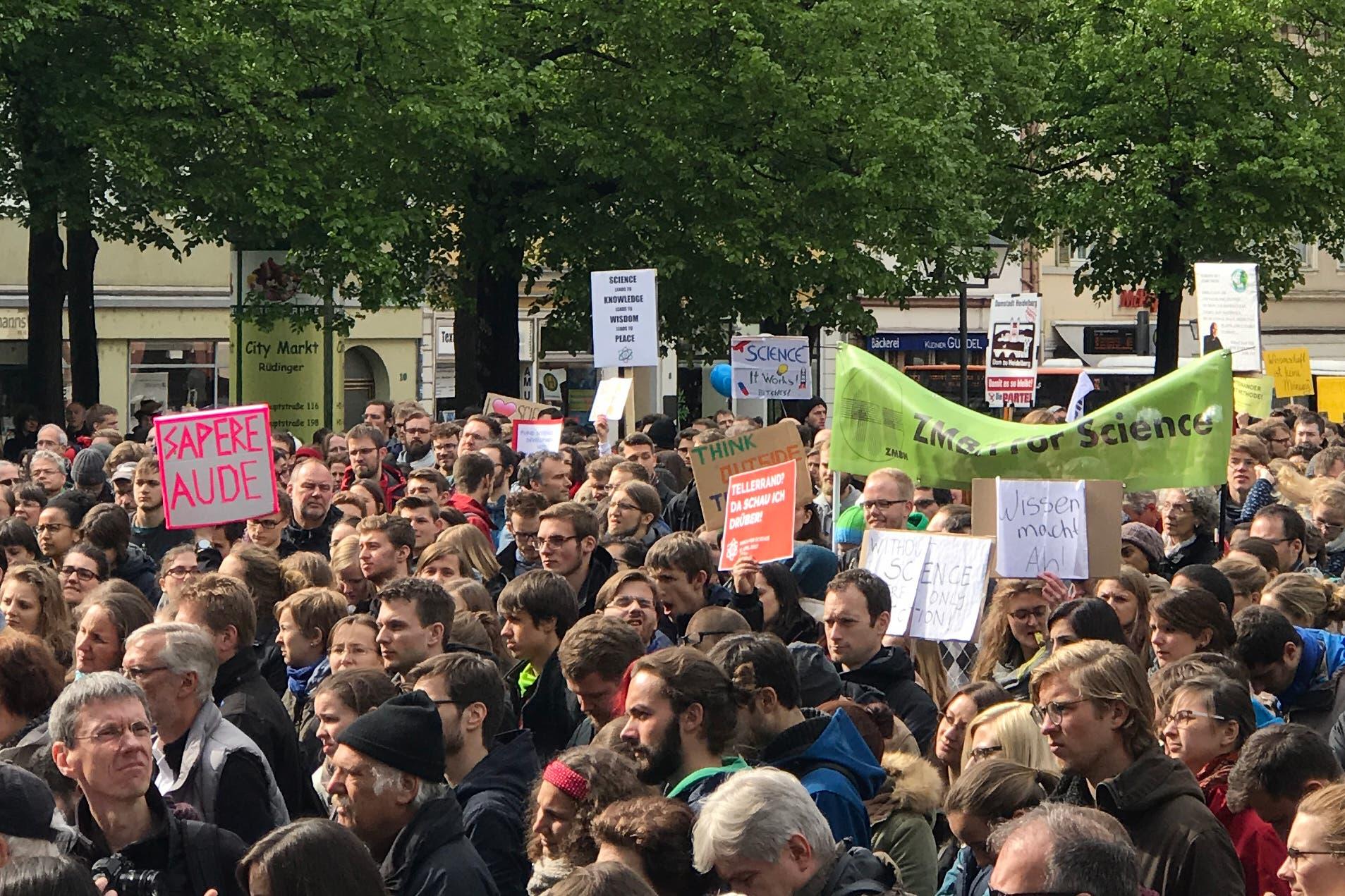 Teilnehmer des Heidelberger March for Science