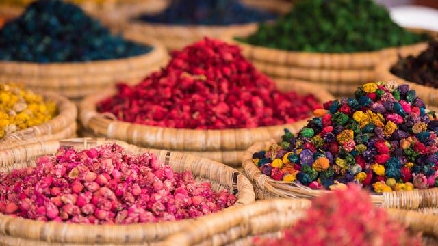 Märkte bieten eine gute Übersicht, welche landwirtschaftlichen Produkte in einer Region angebaut werden - hier in Marokko