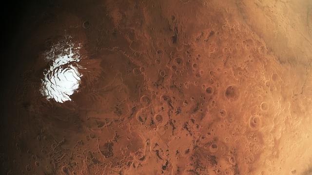 Heutiger Südpol des Mars