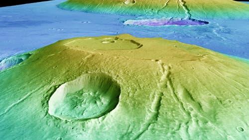 Die Marsvulkane Uranius und Ceraunius Tholus