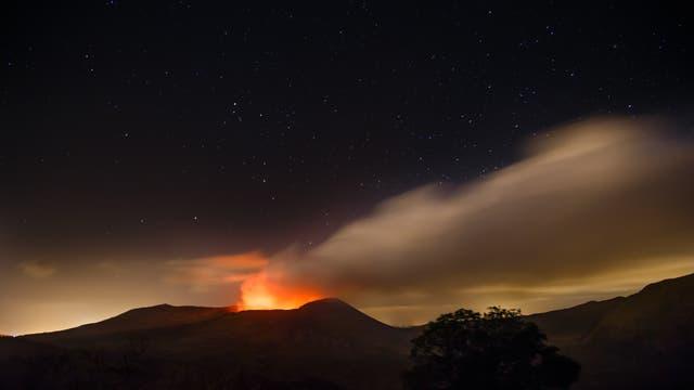 Der aktive Vulkan Masaya liegt in Nicaragua
