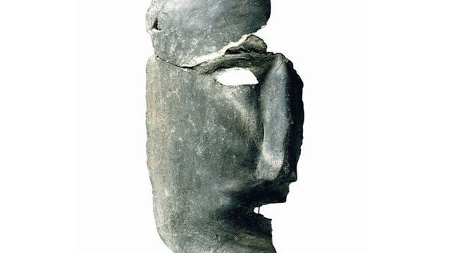 Diese Maske aus Middelstum bei Groningen