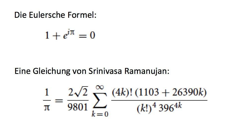 Schön oder unelegant: mathematische Formeln