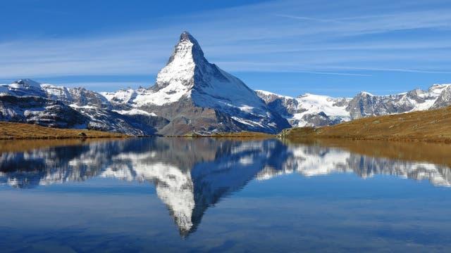Das Idealbild eines Berges: Matterhorn in der Schweiz