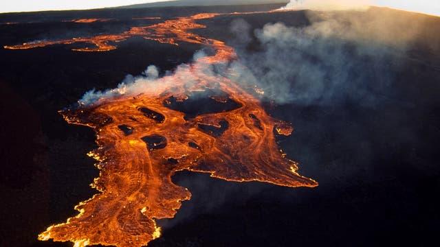Lavastrom am Mauna Loa