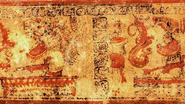 Eines der beiden Keramikgefäße aus dem Grab