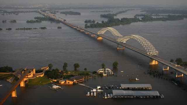 Mississippiflut bei Memphis