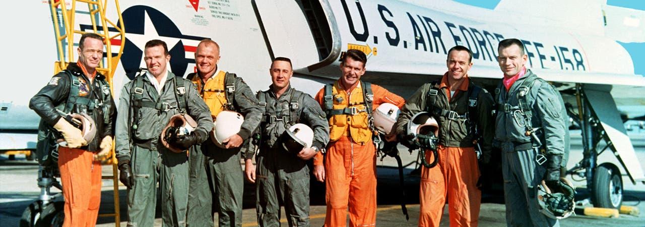 Die Astronauten des Mercury-Programms