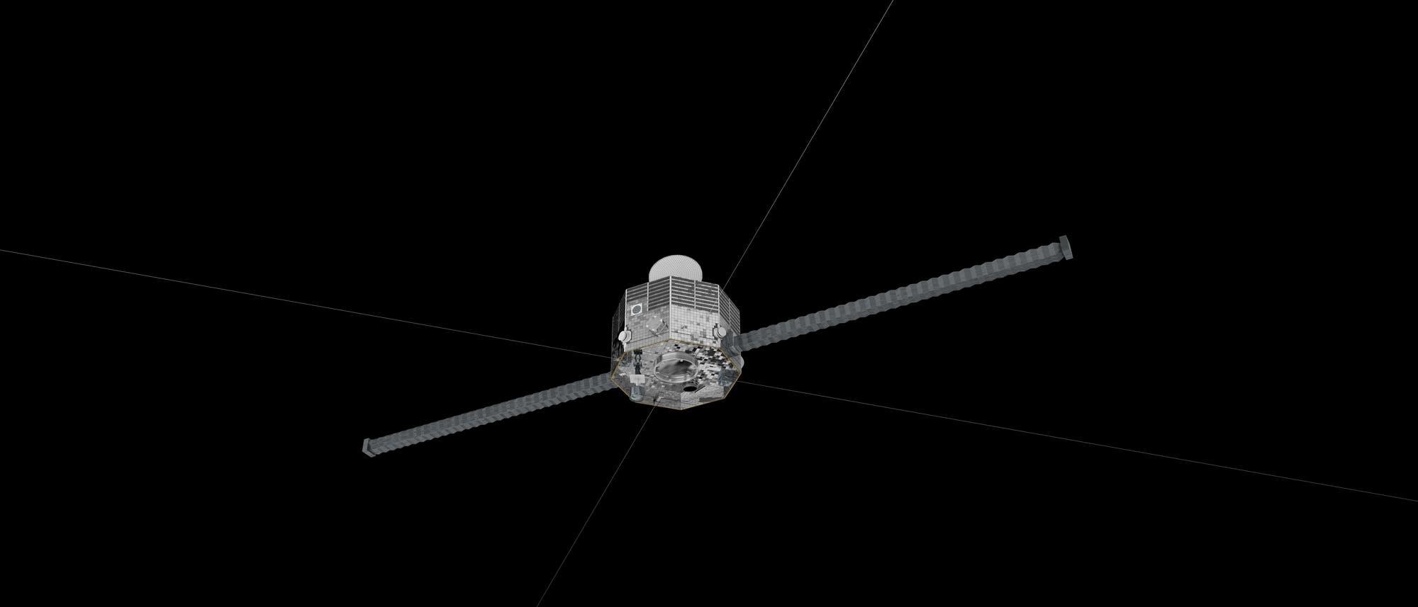 Der Mercury Magnetospheric Orbiter von unten