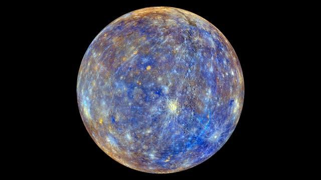 Merkur in Farbe