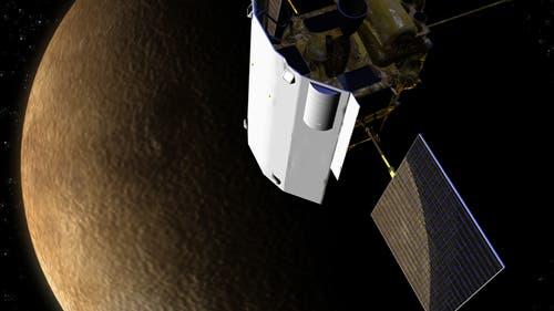 Die US-Raumsonde Messenger passiert den sonnennächsten Planeten Merkur