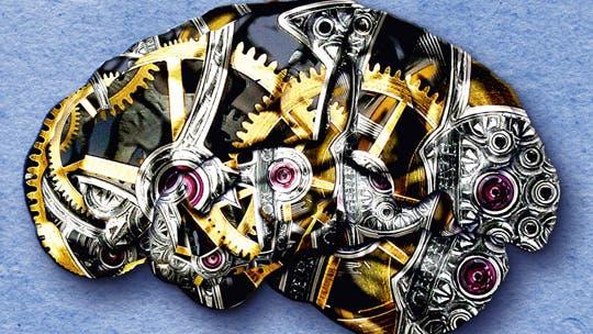 Technik im Kopf  - Metapher für die Arbeitsweise des Gehirns