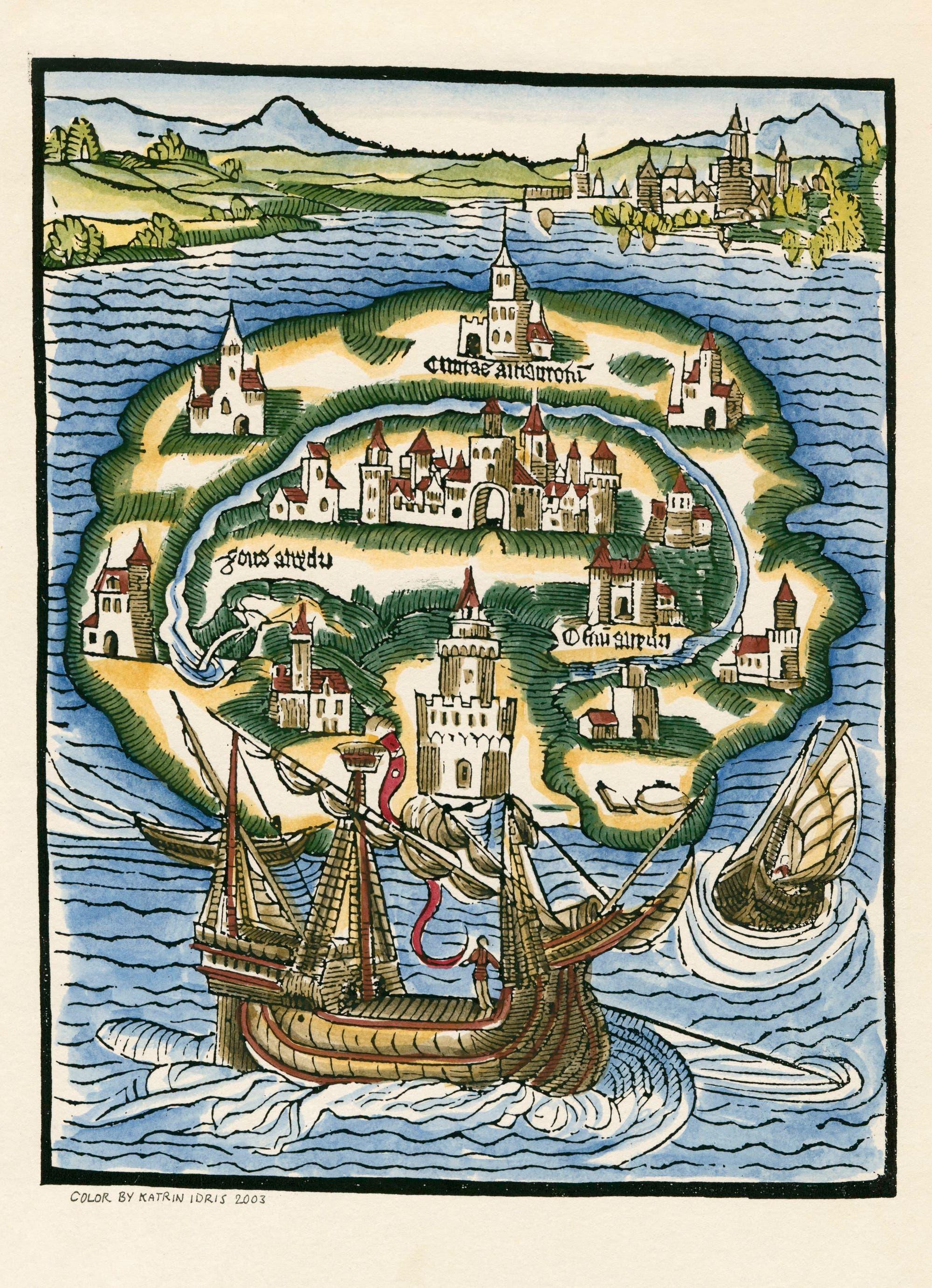 Karte der Insel Utopia